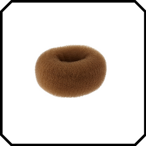 Brown Hair donut bun maker, ring style bun, women chignon hair donut buns, small medium large
