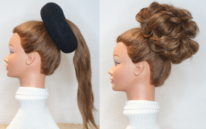 jumbo hair donut, black