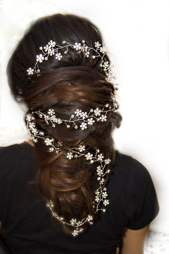 Diana - Silver Bridal Hair Accessory