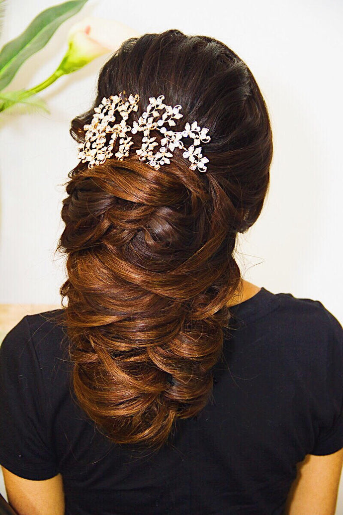 Lilly - Gold Bridal Hair Accessory