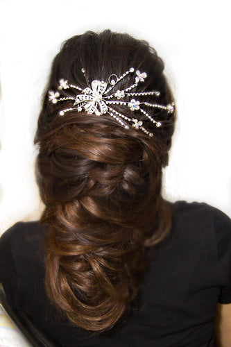 Ellie - Silver Bridal Hair Accessory