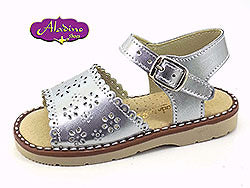 Spanish Girls Sandals Silver