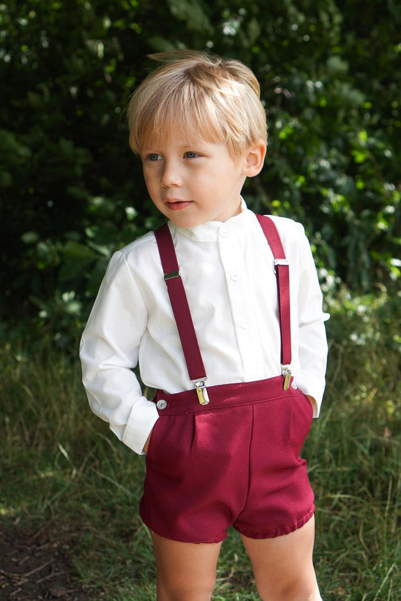 The Valencia Collection Boys Set In Burgundy