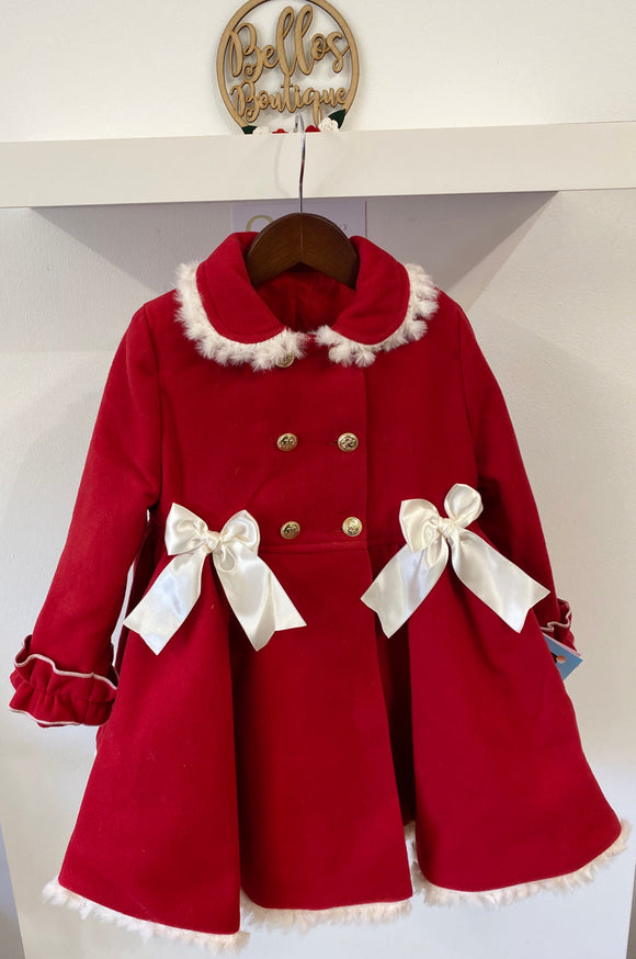 Sonata Valeria Coat in Red and White
