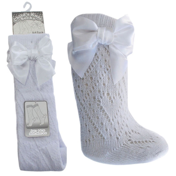 White Pelerine Bow Socks
