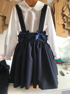 Pinafore Skirt in Grey, Navy or Black
