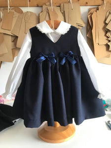Pinafore in Grey, Navy or Black