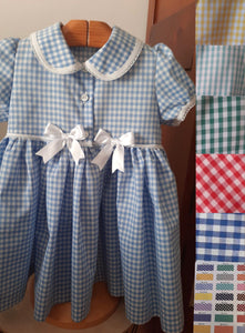 Bellos School Uniform Gingham Dress in all colours