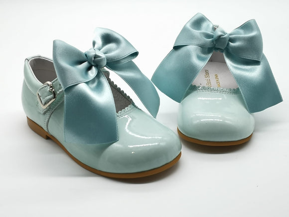 Mint Cocoboxi Mary Janes - with removable bows