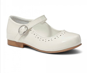 Abbey White Mary Janes