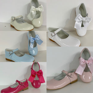 Bambi Mary Janes with Removable Bows