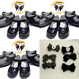 Mary Janes in Black, Grey or Navy with 3 Bow Option (Please read item description)