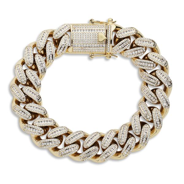 SOHO BAGUETTES LINKS (YELLOW GOLD)