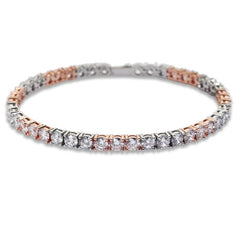 LEXINGTON TENNIS CHAIN (ROSE/WHITE GOLD )