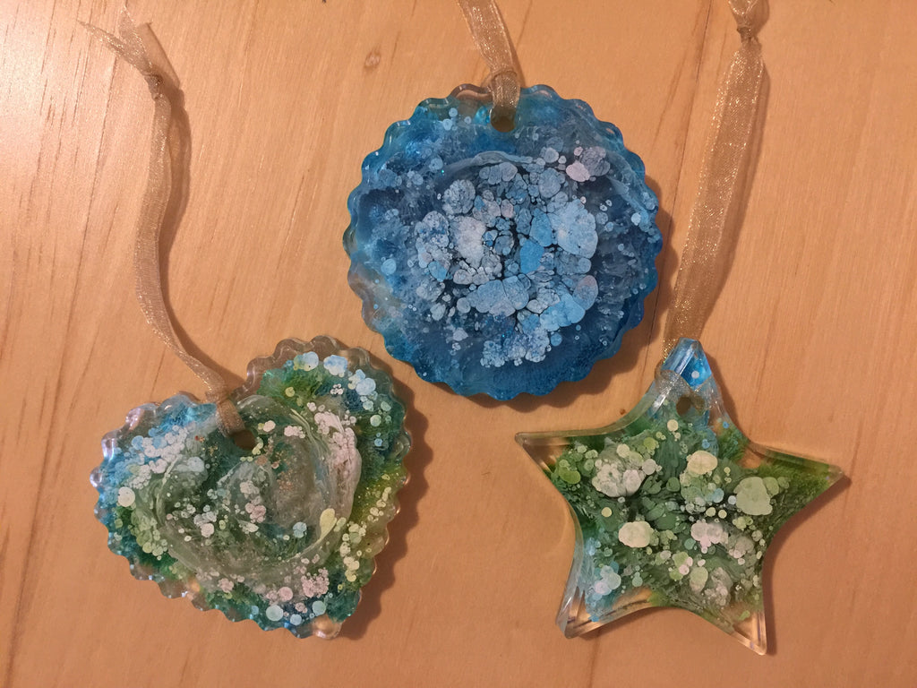 Green and Blue ornament pack