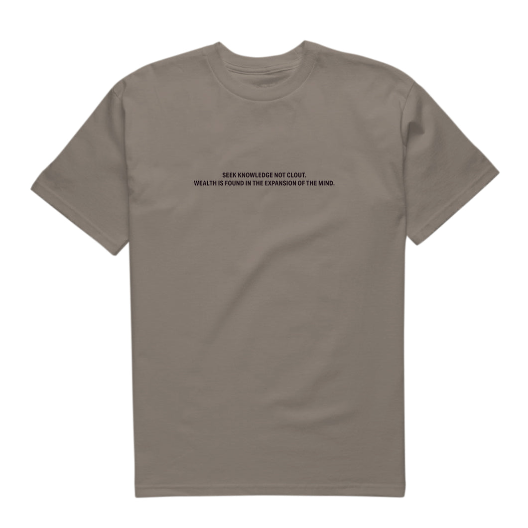 Seek Knowledge Not Clout Short Sleeve Tee