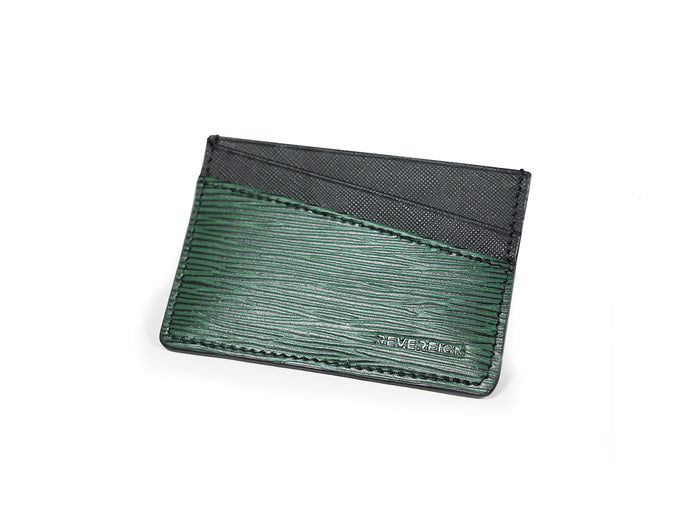 Onyx Green Leather Card Holder Wallet