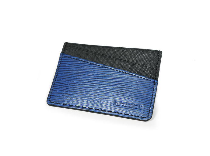 Onyx Blue Leather Card Holder Wallet