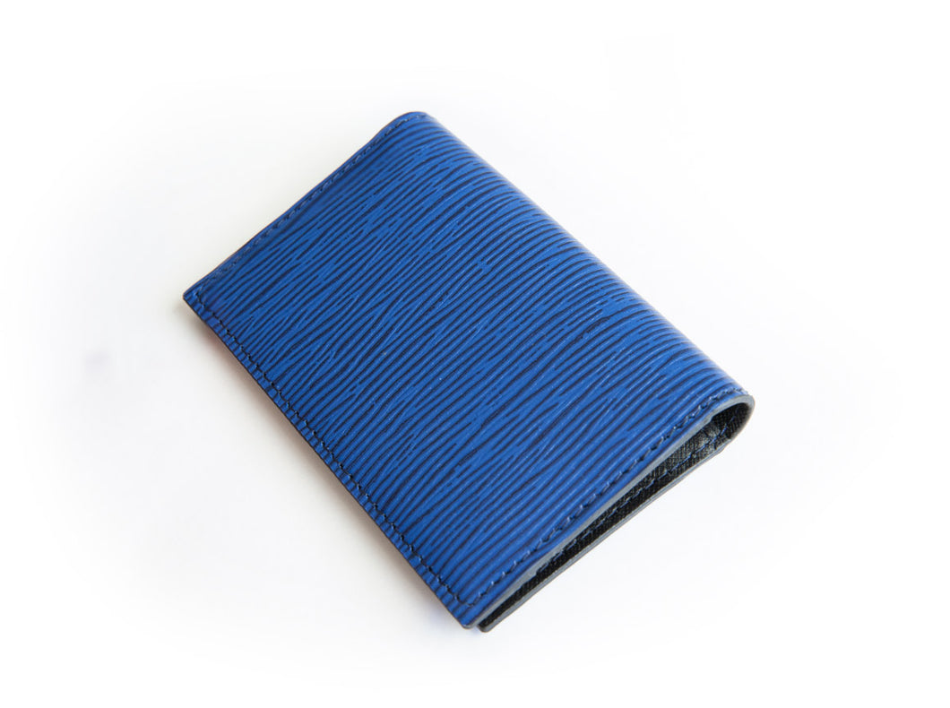 Roxy Blue Bifold Leather Card Holder Wallet