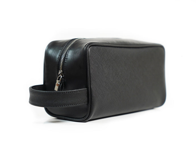 Bayton Lux Leather Travel Toiletry Bag