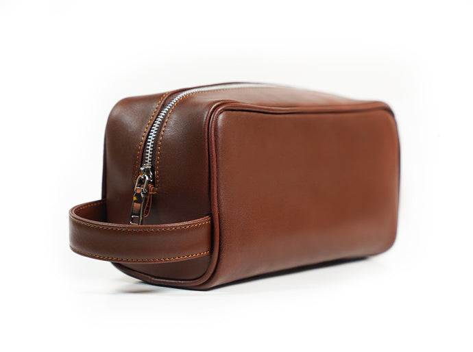Bayton Classic Leather Travel Toiletry Bag