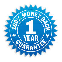 1 Year Money Back Total Satisfaction Guarantee