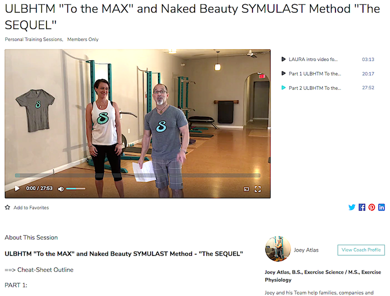 "ULBHTM ""To the MAX"" and Naked Beauty SYMULAST Method - ""The SEQUEL"" image part 2 Corinne"