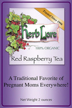Load image into Gallery viewer, Herb Lore Organic Red Raspberry Leaf Tea