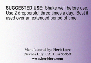 Herb Lore Organic Itch Relief Tincture
