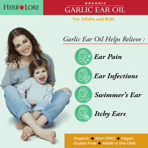 Organic Garlic Ear Oil Drops