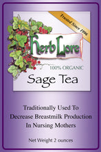 Load image into Gallery viewer, Herb Lore Organic Sage Tea
