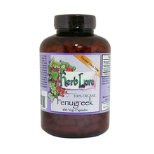 Load image into Gallery viewer, Herb Lore Organic Fenugreek Capsules