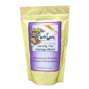 Herb Lore Organic Nursing Tea Moringa Blend - Loose Leaf