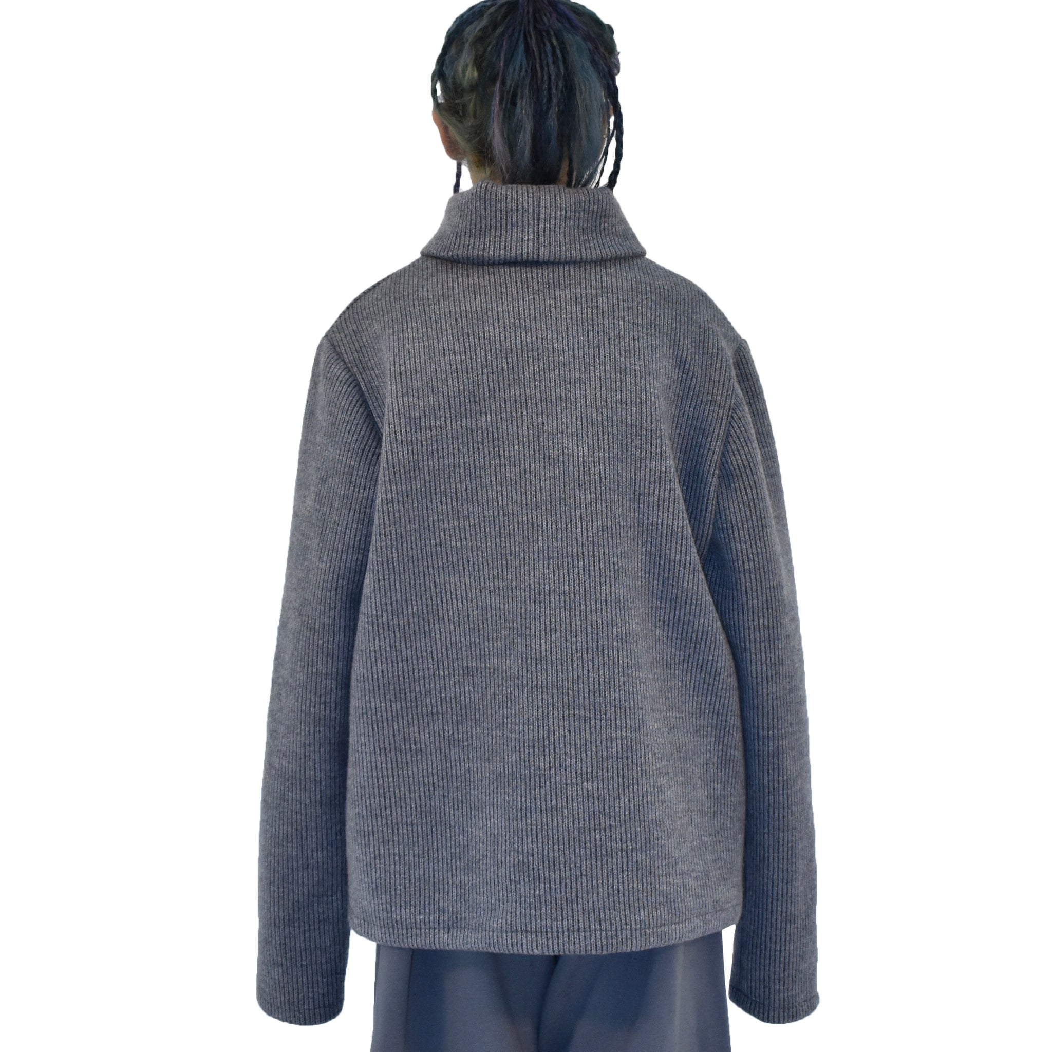 Boxy Turtleneck Sweatshirt