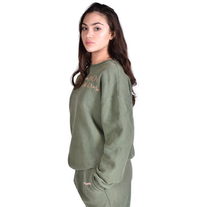 Khaki Sweatshirt - RKC Embroider
