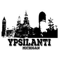 Ypsilanti Michigan Map Greeting Card