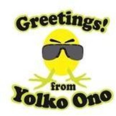 Yolko Ono Easter Greeting Card