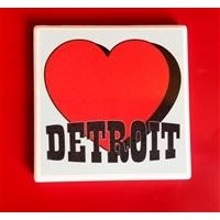 Heart Detroit Coaster
