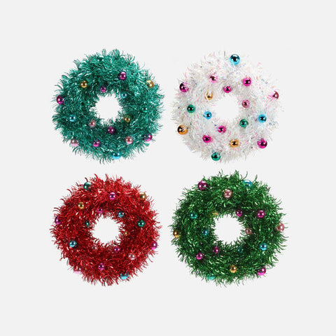"20"" Tinsel Wreath (Choose Color)"