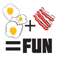 Eggs Plus Bacon Equals Fun Sticker