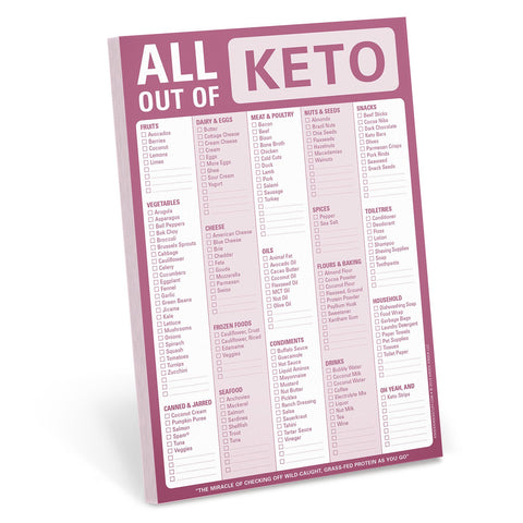 All Out Of Keto Notepad