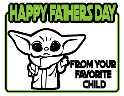 "Baby Yoda ""The Child"" Father's Day Greeting Card"
