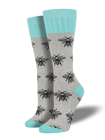 Bee Boot Light Gray Socks