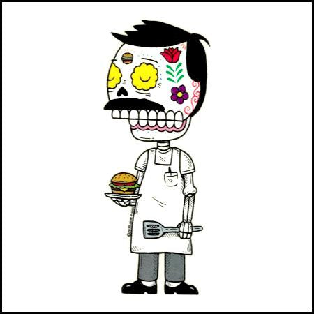 Bob Belcher - Day of the Dead Sticker
