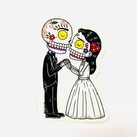 Bride And Groom - Day of the Dead Sticker