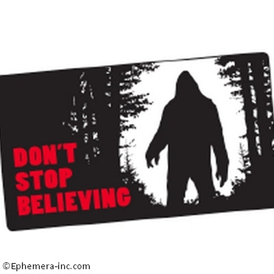 Don't Stop Believing Bumper Sticker
