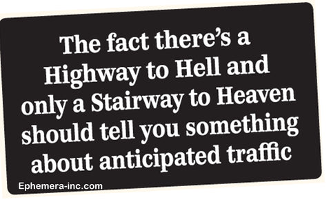 Highway To Hell Bumper Sticker