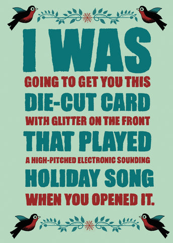 Card Die-Cut Holiday