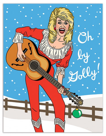 Card Holly Dolly Parton