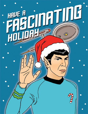 Card Spock Star Trek Holiday